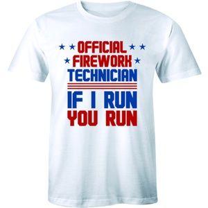 Official Firework Tecnician If I Run You T-shirt